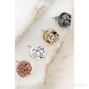 df3af9041e31d1 Jewelry - Round Druzy post earrings studs